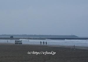 冬の片貝海岸